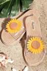 أزياء الصنادل المنسوجة عباد الشمس