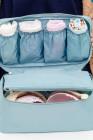 حقيبة تخزين الملابس الداخلية الصدرية المحمولة الزرقاء للسفر
