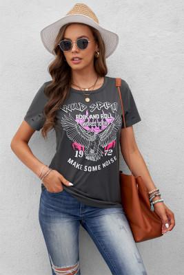 Camiseta envejecida WILD SPIRIT ROCK AND ROLL