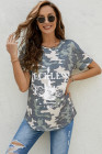 RECKLESS Guitar Romance 1992 camiseta estampada de camuflaje