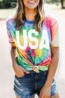 Camiseta Tie Dye Rainbow Vortex